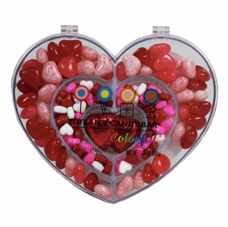 Dylan's Candy Bar - Valentine's Day Heart Compartment Box with Candy