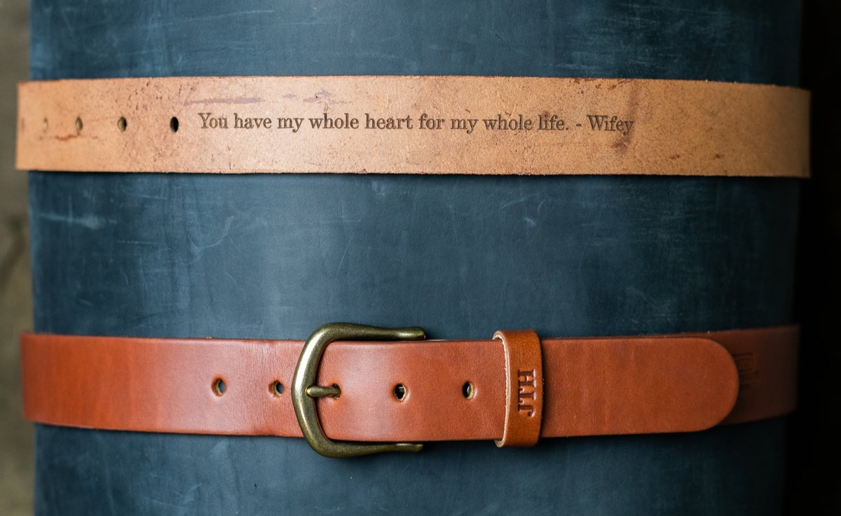 "Holtz Leather - ""You have my whole heart for my whole life.""—WifeyHandmade Leather Belt"