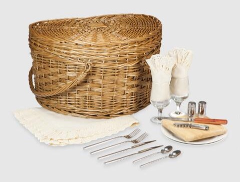 World Market - Willow Heart Picnic Basket for Two