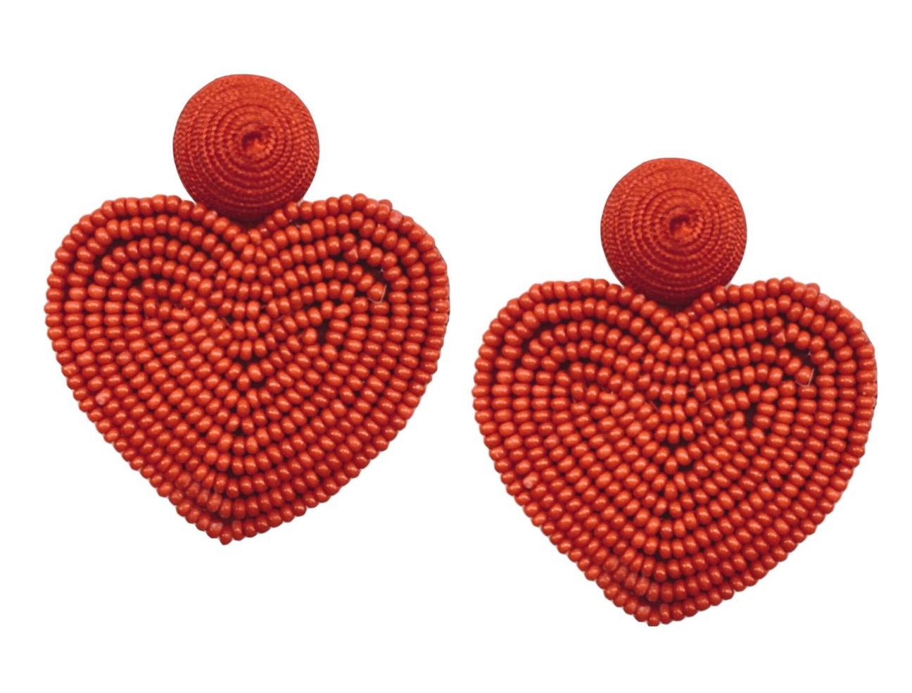 Starmand Designs - Red Holiday Heart Earrings
