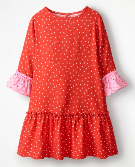 Mini Boden - Frill Sleeve Printed Dress