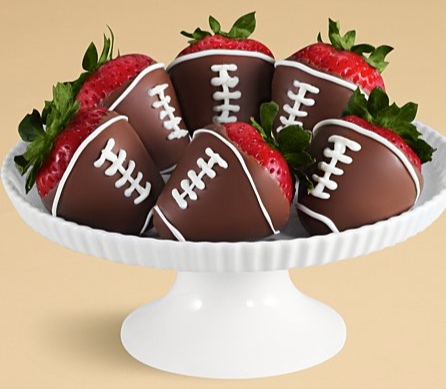 Gifts.com - Half Dozen Hand-Dipped Football Strawberries