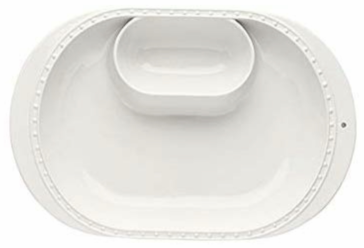 Nora Fleming - Chip and Dip Charm Platter (See below for charms to insert into hole on right)