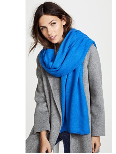 7. White + Warren Cashmere Travel Wrap Scarf