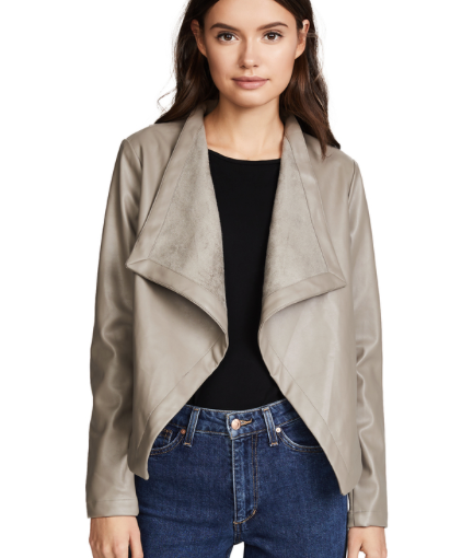 25. BB Dakota Peppin Vegan Leather Drapey Jacket