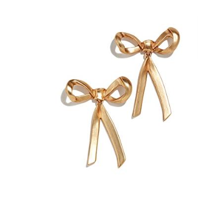 41. Oscar de la Renta Metal Bow Earrings
