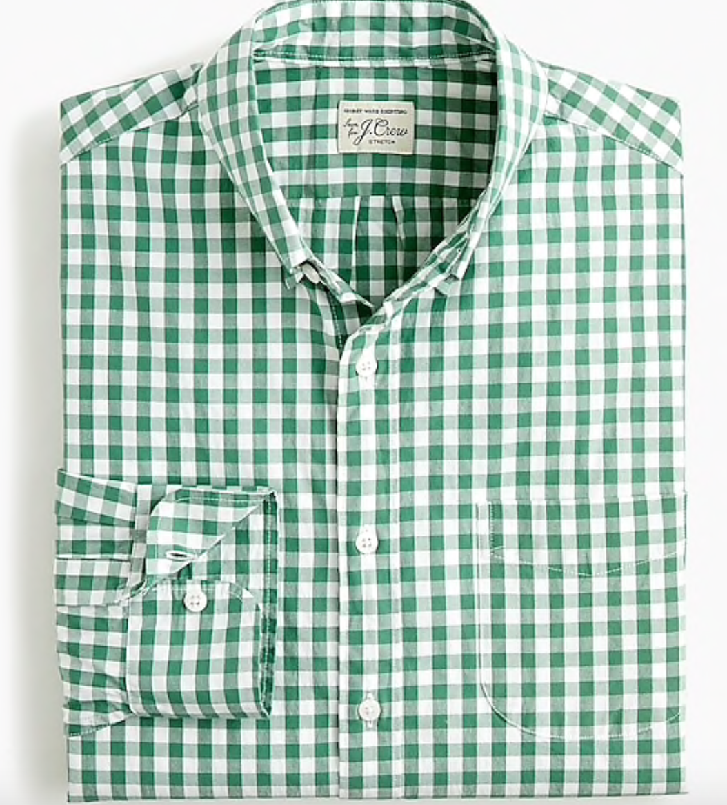 J. Crew Mens Stretch Secret Wash Shirt -