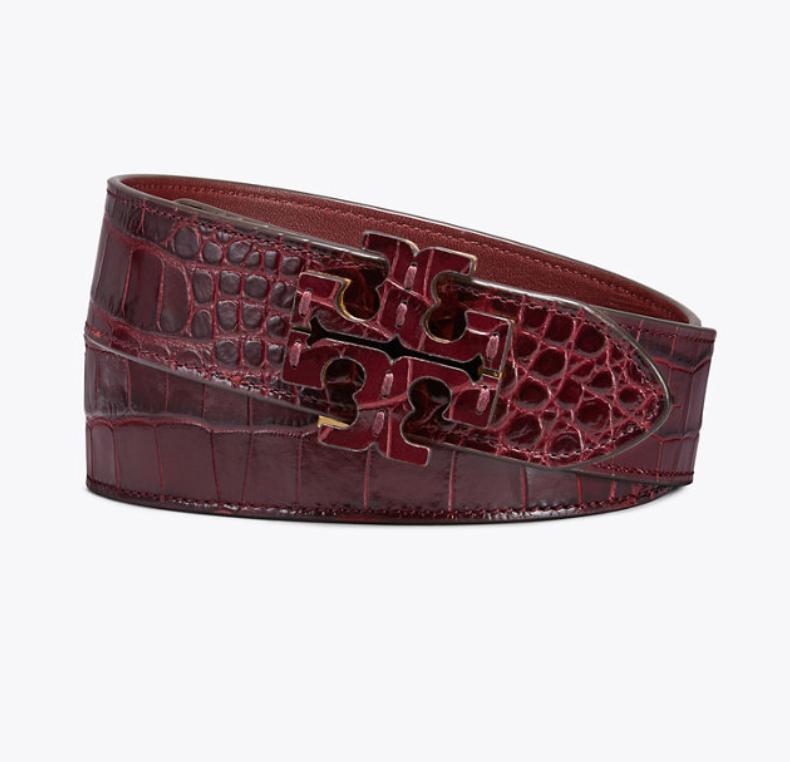 Embossed Stacked T-Logo Belt