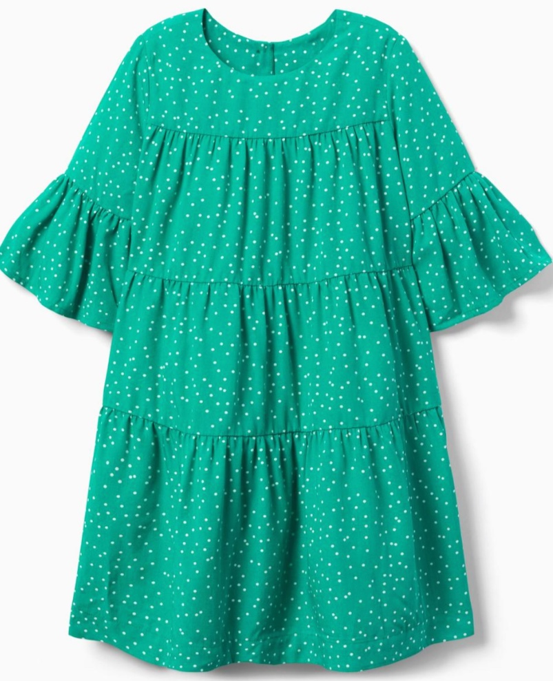 Gymboree Grass Green Dot Tiered Dress -