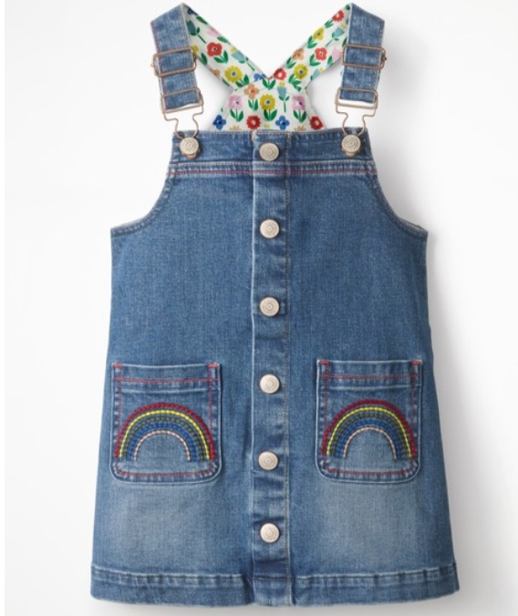 Mini Boden Button-front Overall Dress -