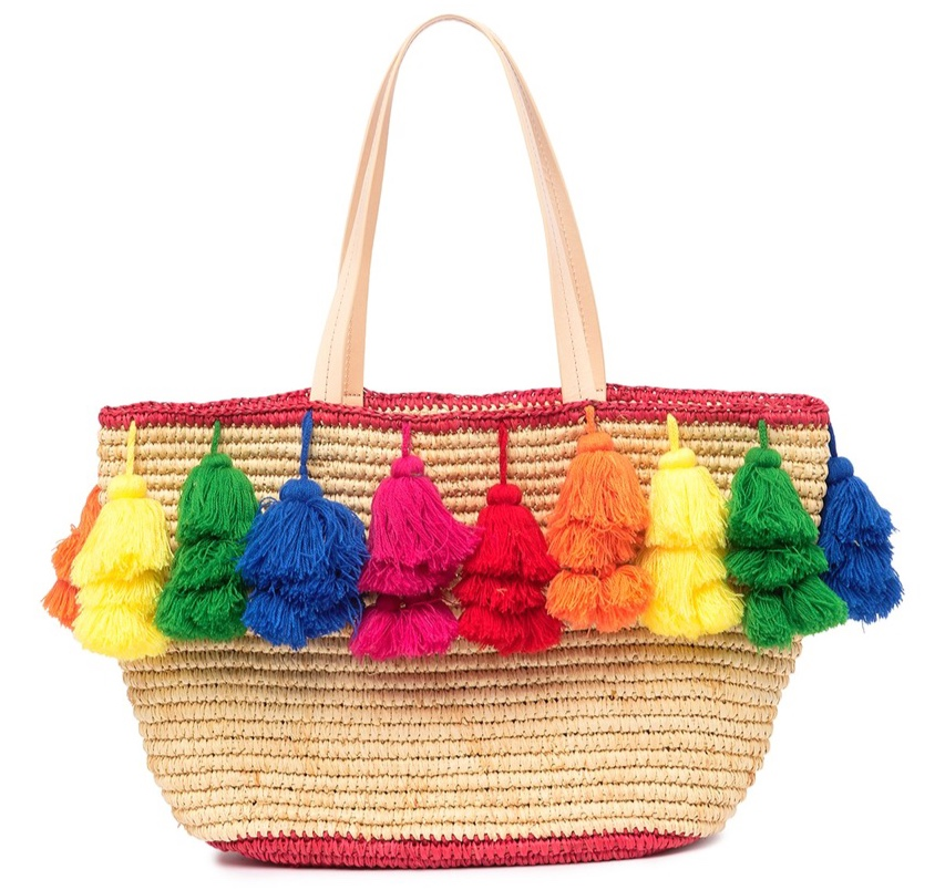Alice + Olivia Sally Rainbow Pompom Tote Bag -
