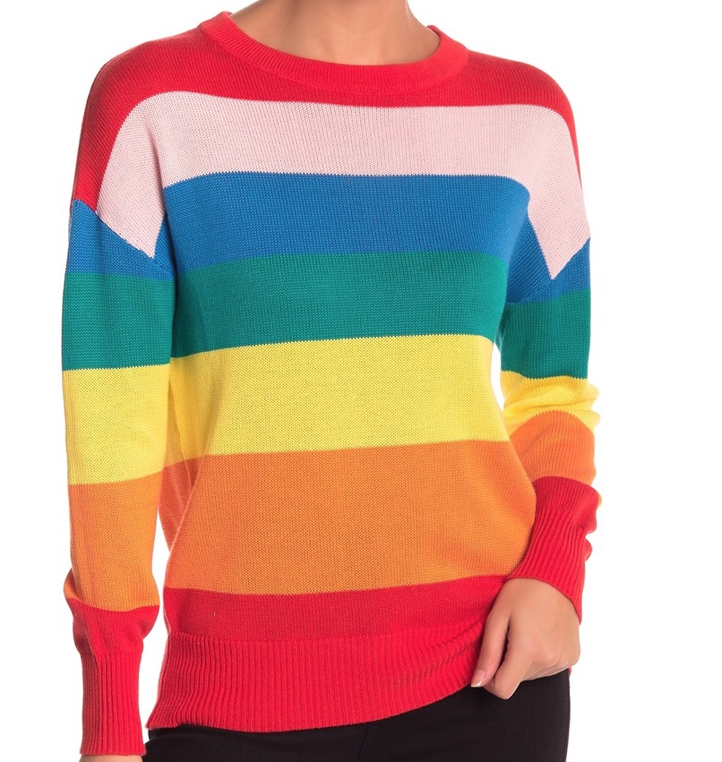 Elodie Rainbow Stripe Sweater -