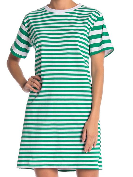 Cotton Emporium Variegated Stripe Dress -
