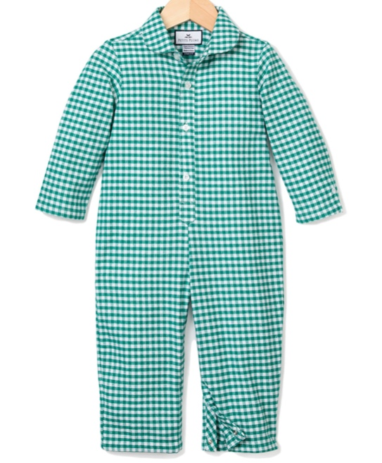 Petite Plume Gingham Flannel Coverall -