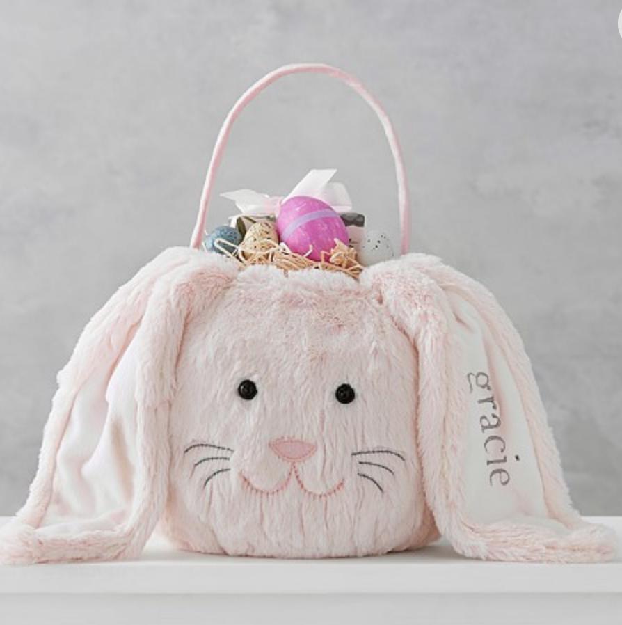 Pottery Barn Long-Eared Bunny Treat Bucket -