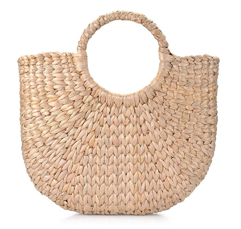 Sukutu Women's Natural Chic Hand-Woven Tote Bag -