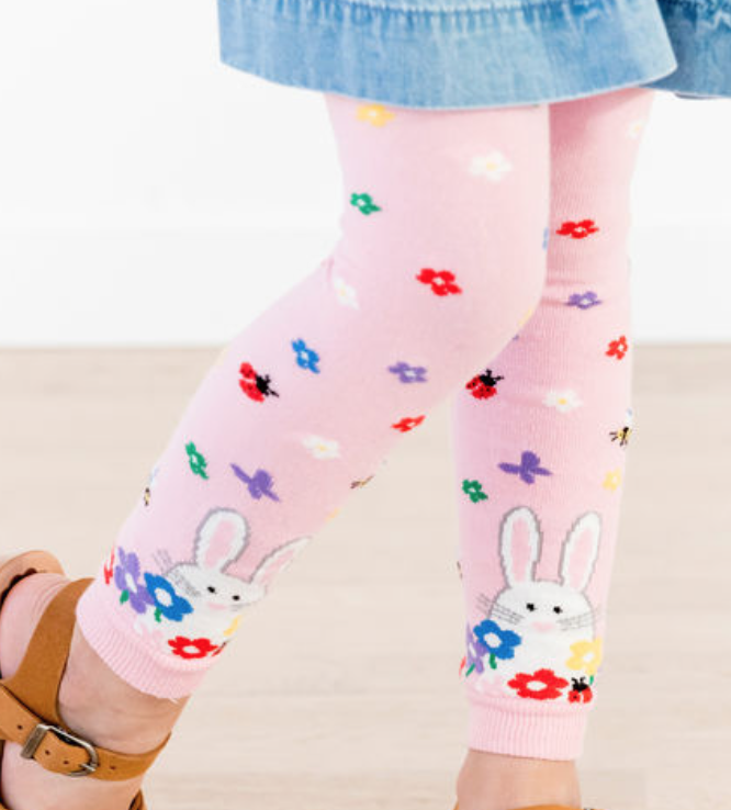 Hanna Andersson Bunny Footless Tights -