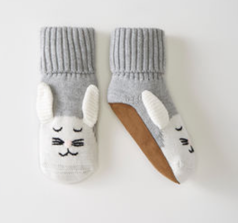 Hanna Andersson Bunny Sweaterknit Booties In Organic Cotton -
