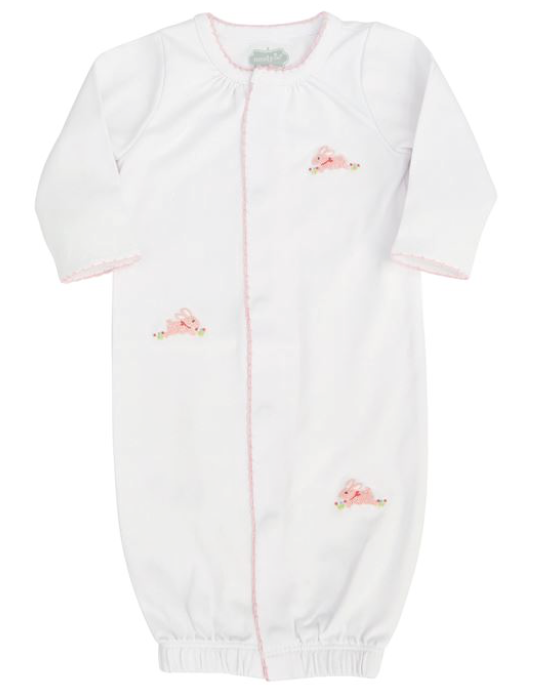 Mud Pie Pink French Knot Bunny Sleep Gown -