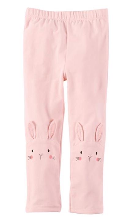 Mud Pie Pink Bunny Cotton Leggings -