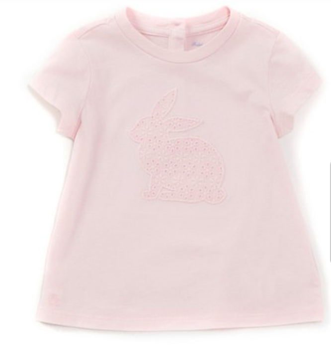 Childrenswear Baby Girls 12-24 Months Short-Sleeve Easter Bunny Tee -