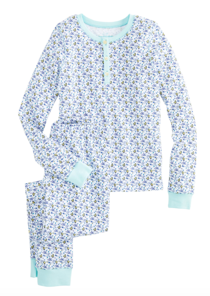 Vineyard Vines Girls Easter Bunny Whale Lounge Set -