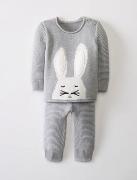 Hanna Andersson Sweaterknit Set In Organic Cotton -