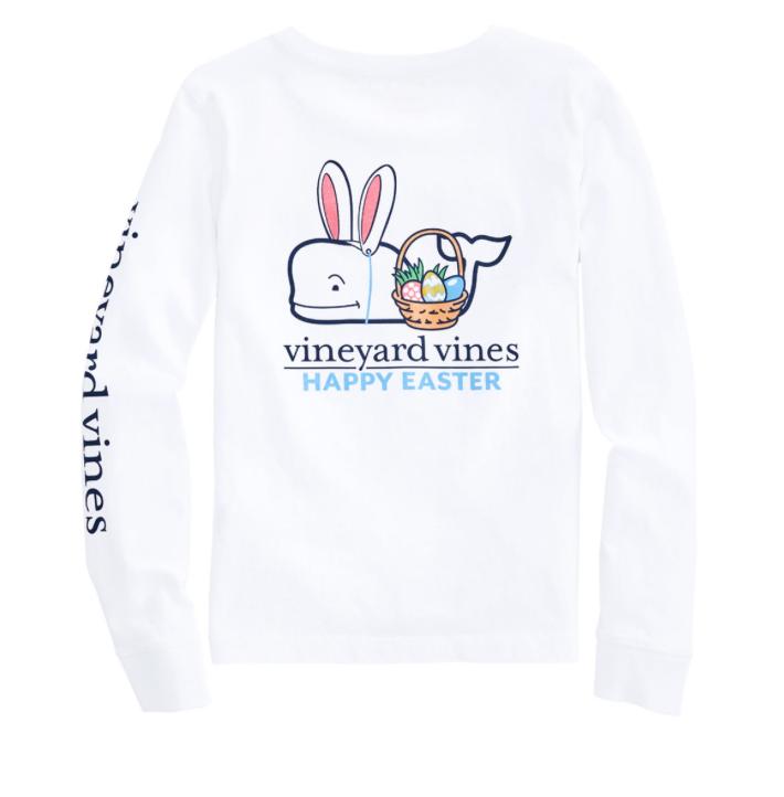 Vineyard Vines Boys Long-Sleeve Easter Whale T-Shirt -