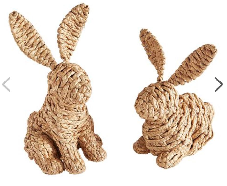 Pier 1 Natural Woven Bunnies -
