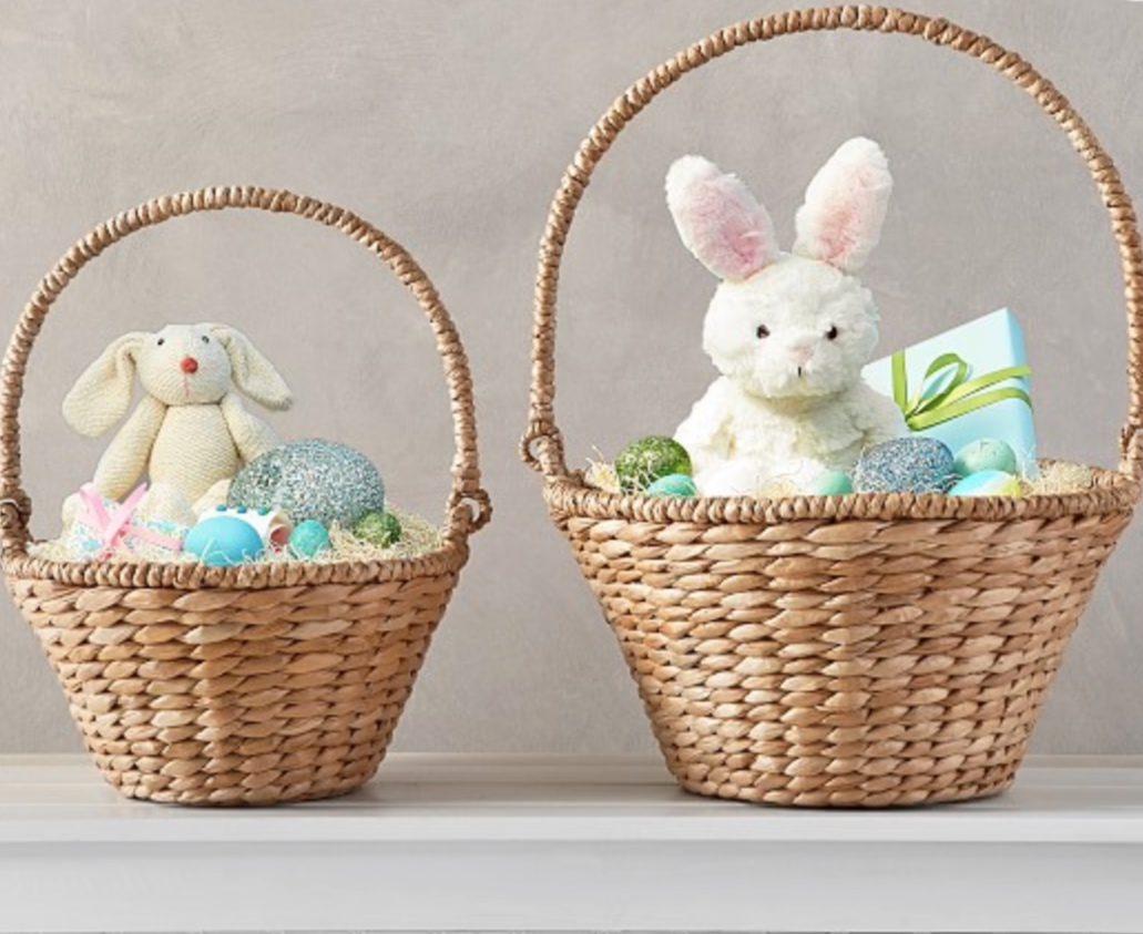 Pottery Barn Seagrass Easter Basket -