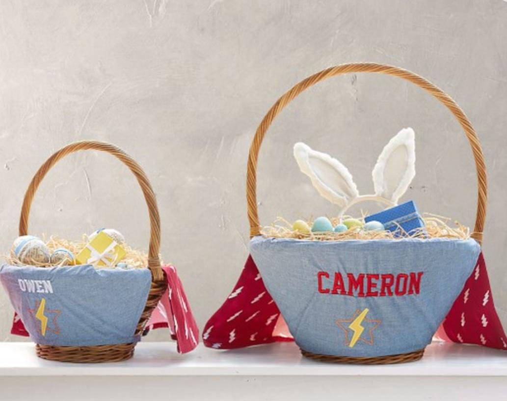 Pottery Barn Super Hero Easter Basket Liner -