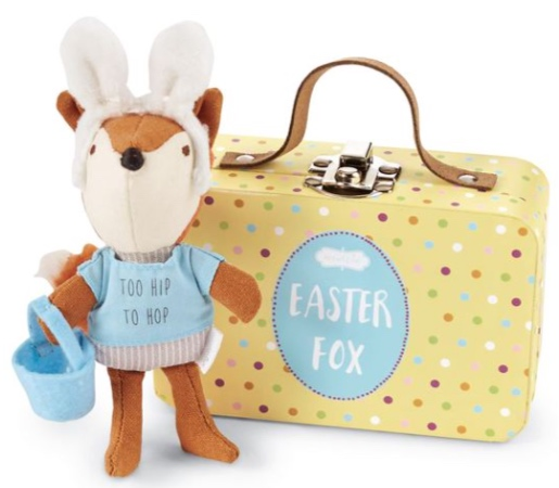 Blue Hoppy Easter Fox-In-A-Box Set -