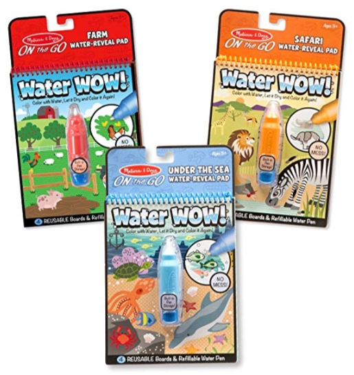 Melissa & Doug Water Wow! Reusable Color with Water Activity Pad 3-Pack -