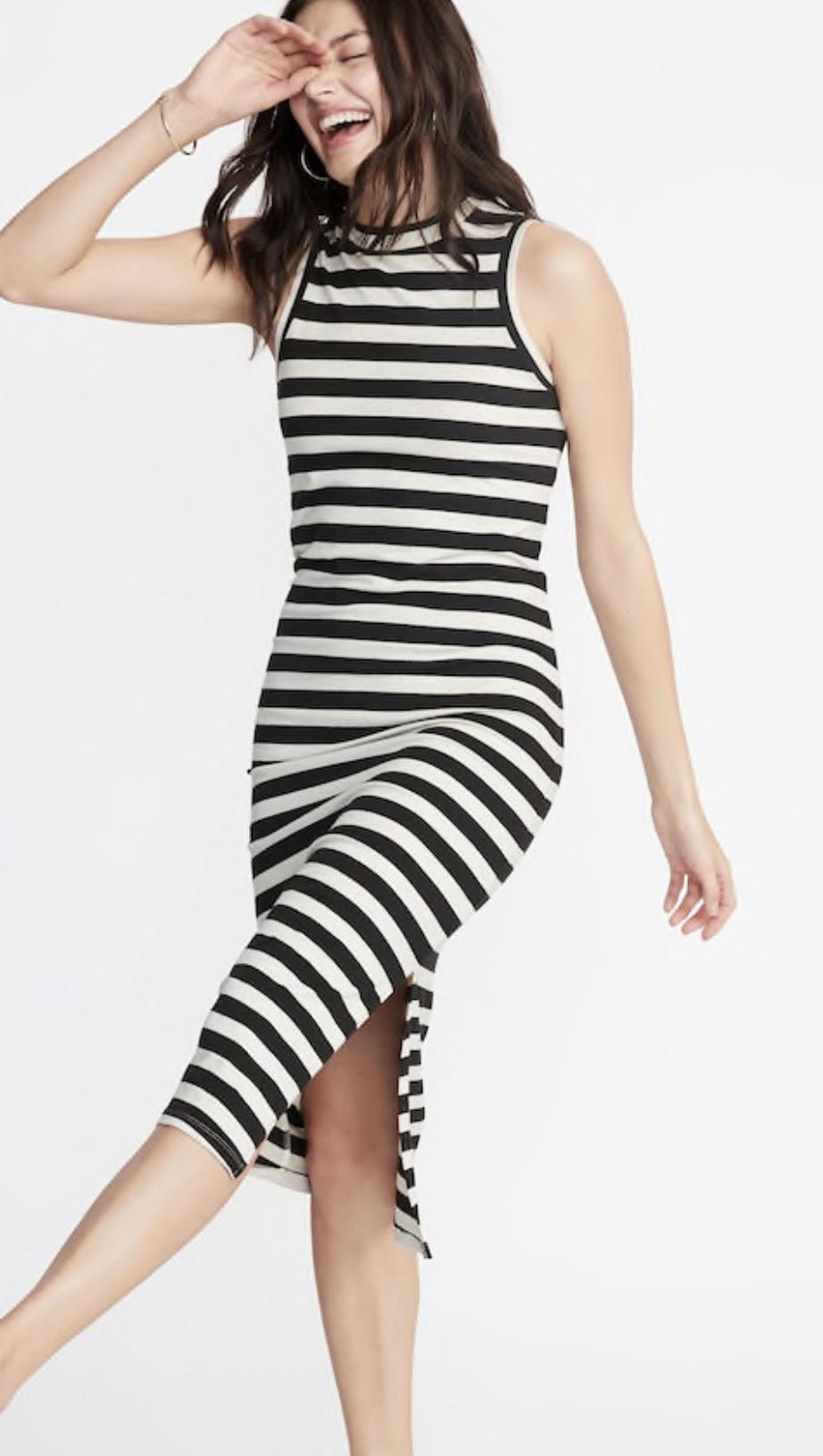Old Navy Sleeveless High-Neck Jersey Midi Dress
