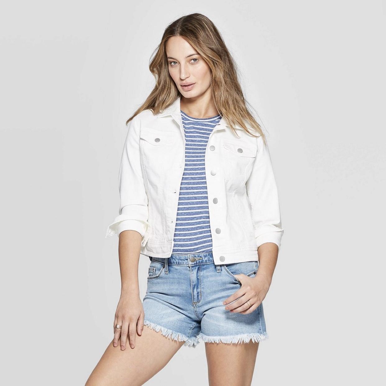 Freeborn Denim Jacket - Universal Thread™ White