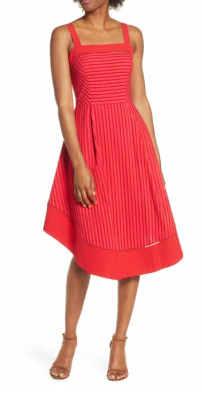 Adelyn Rae Cailin Stripe Midi Dress