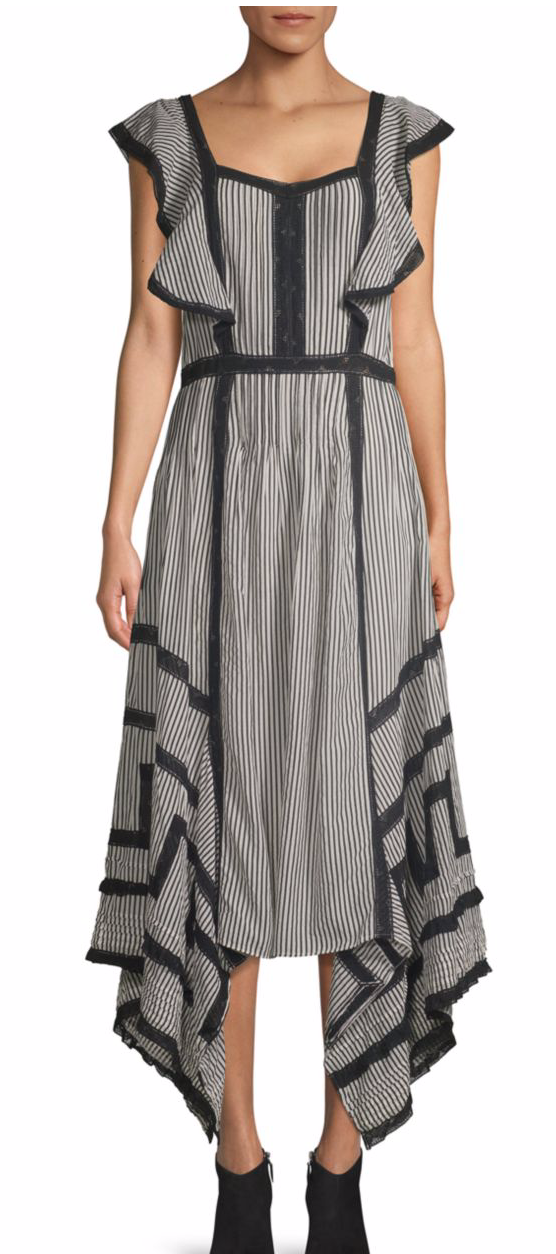 Love Sam Hailey Striped Midi Dress