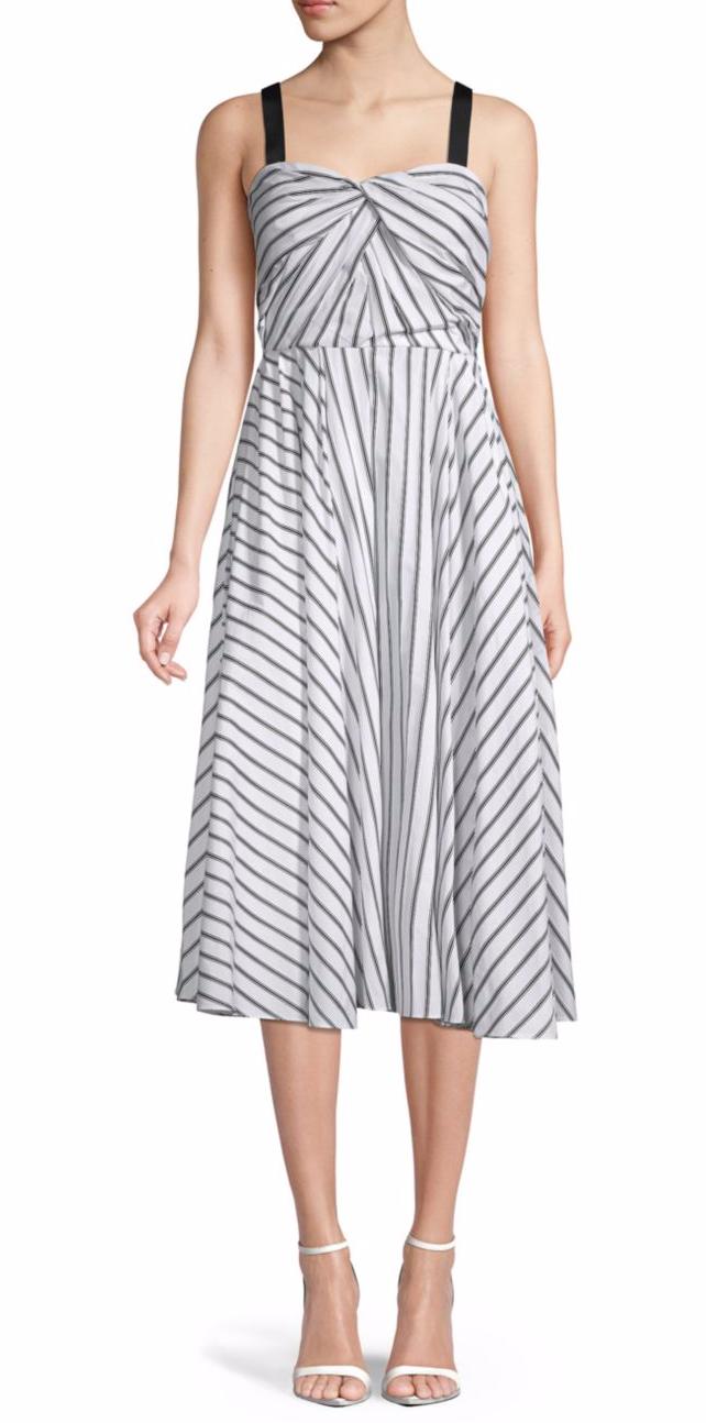 Jason Wu Striped Cotton A-Line Dress