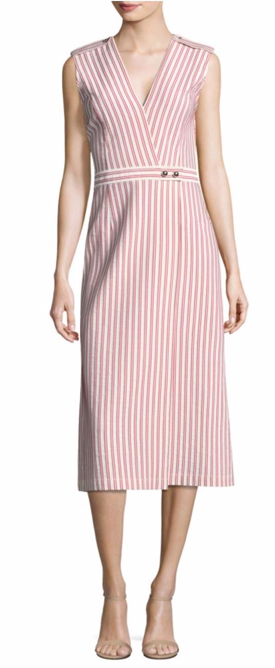 Jason Wu Collection Striped Cotton Dress