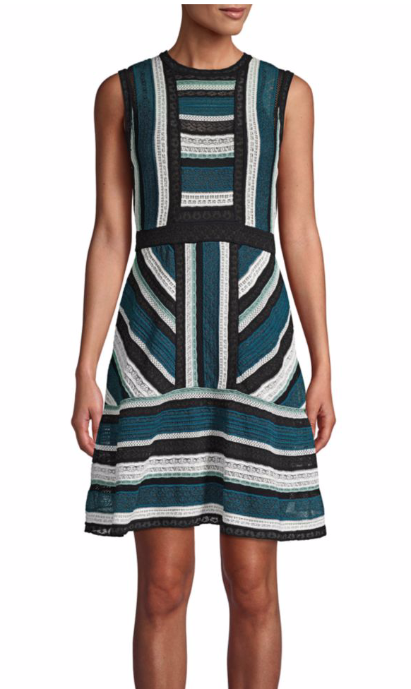M Missoni Ottanio Striped Sleeveless Fit-&-Flare Dress