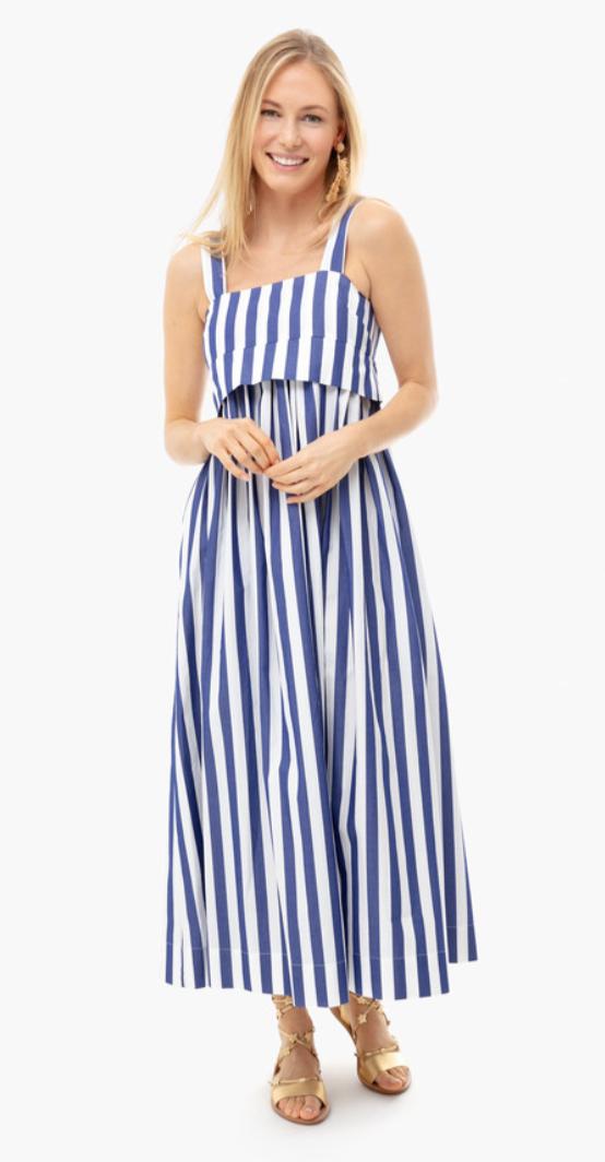 Tuckernuck Blue Striped Isabelle Dress