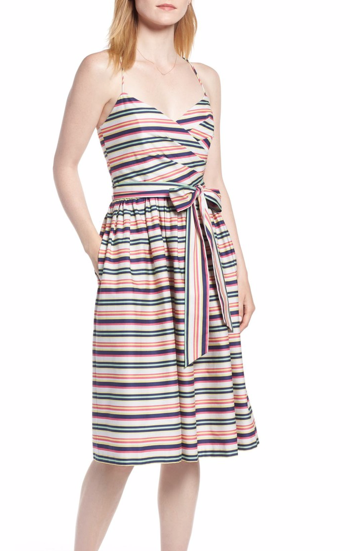 1901 Stripe Strappy Cotton Dress