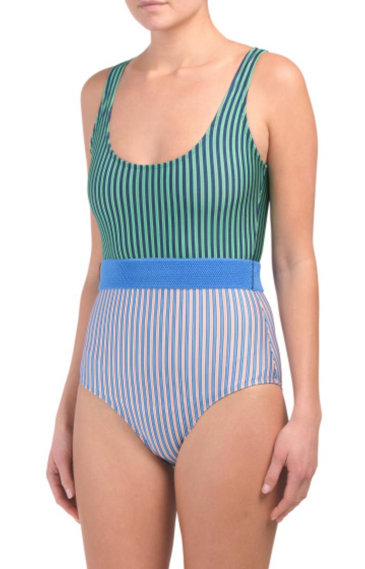 Diane Von Furstenberg Tie Front Classic Swimsuit