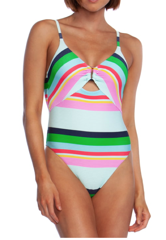 Trina Turk Deco Stripe One-Piece Swimsuit