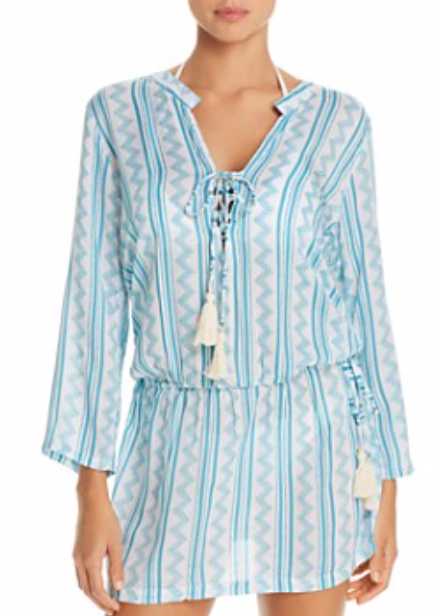 Chloe Tehani Stripe Swim Cover-Up