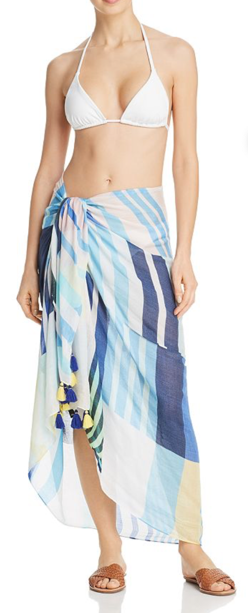 Echo Stripes on Stripes Pareo Swim Cover-Up
