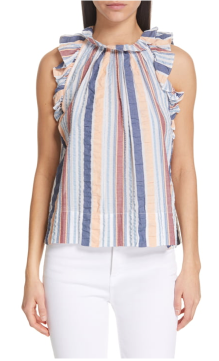 Ulla Johnson Adana Top in Sky