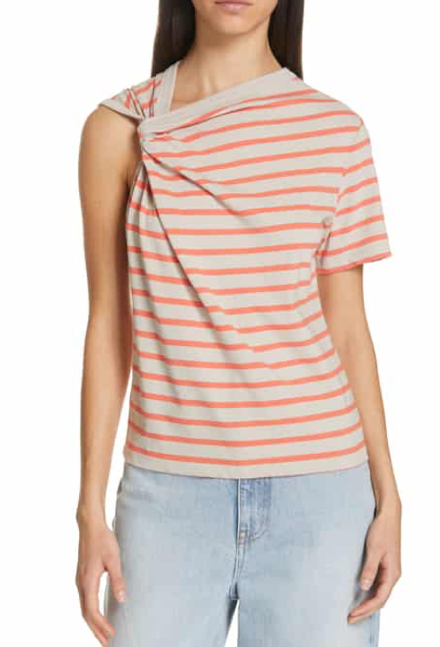 Alexander Wang Stripe Twist Detail Tee