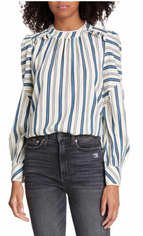 Ba & Sh Season Stripe Blouse