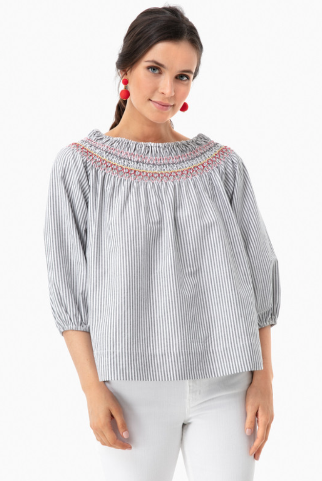 Tuckernuck Zoe Smocked Top